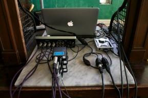 Recording at the bank